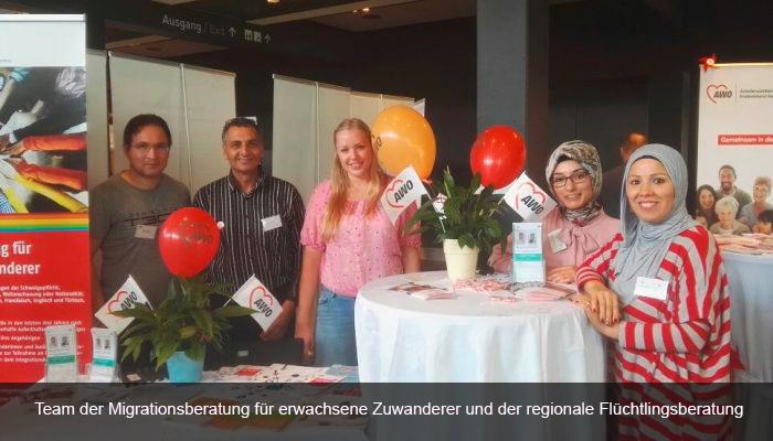 Team der Migrationsberatung für erwachsene Zuwanderer und der regionale Flüchtlingsberatung