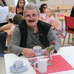 Matthias Feilen (Stellv. AWO-Kreisvorsitzender) bei einer Kaffeepause