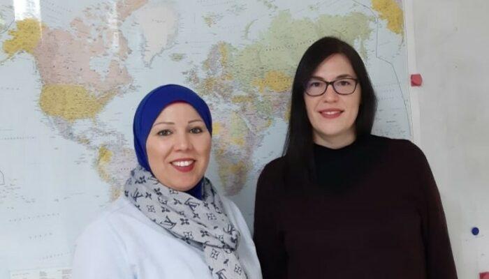 Frau Baboua und Frau Sauder